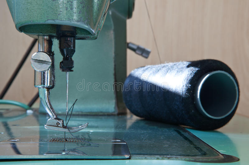 Green electrical sewing machine royalty free stock photos